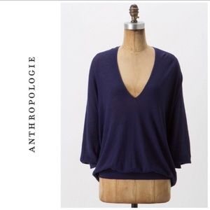 Anthropologie Sparrow Slouchy V-neck Sweater